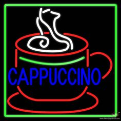 Cappuccino Inside Cup Real Neon Glass Tube Neon Sign,Affordable and durable,Made in USA,if you want to get it ,please click the visit button or go to my website,you can get everything neon from us. based in CA USA, free shipping and 1 year warranty , 24/7 service