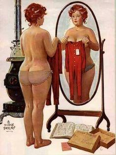 Original Plus Size Vintage Art