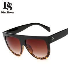 4c66055a30 Click to Buy    Dimshow 2017 Vintage Big Frame Sunglasses Women Brand  Designer