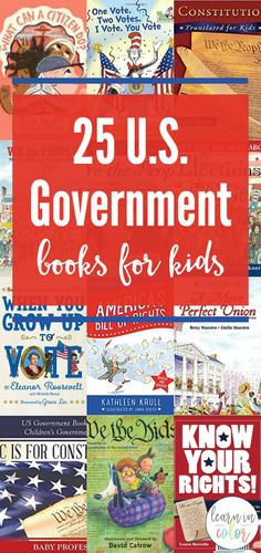 Learn more about the American government with these US Government books for kids. Study our nation's history, politics, and constitution! books 25 Fun and Engaging US Government Books for Kids History Books For Kids, Best History Books, Black History Month Activities, History Quotes, Us History, History Facts, Ancient History, History Lessons For Kids, History Classroom