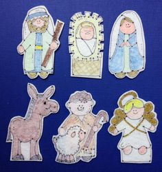 Nativity Finger Puppets Pack 1. Custom designed and by SKScutie
