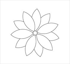 Flower daisy 8 petal template by baj a flower that could for 12 petal flower template