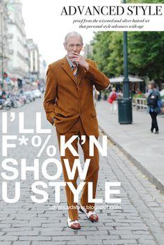 Advanced Style - you rock it grandpa!