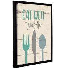 ArtWall Jo Moulton's 'Eat Well 2' Gallery Wrapped Floater-framed Canvas