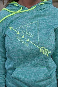 Spur Ridewear Hearts and Arrows Hoodie in Teal - Spur Ridewear