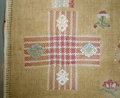 Amazing 1793 Antique Dutch Darning Sampler Silk Mending with Family History   eBay