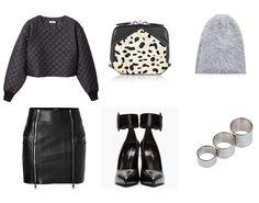 Acne Jumper, Alexander McQueen Skirt ,Saint Laurent Shoes, Acne Hat, Alexander Wang Bag