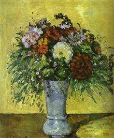 Flowers in a Blue Vase , by Paul Cezanne