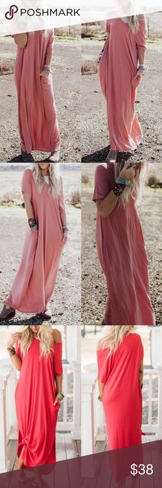 """SCOTTIE Boho Maxi Dress - DARK ROSE Fabric 55% POLYESTER 40% RAYON 5% SPANDEX  BODY LENGTH: 53"""" CHEST: 32"""" approx  - Measured from Small  S fits 2/4, M 6/8, L 10/12  AVAILABLE IN RUBY RED, dark rose & SAGE Bellanblue Dresses Maxi"""