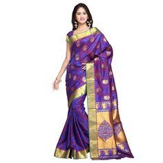 sarees :- gold kanchipuram nandani art silk sarees,blouse :- zari border,work :- theme design, emboss butta.