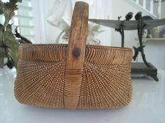 Exquisite Small Antique American Basket.