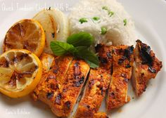 Tandori Chicken with Grilled Lemons and Onions