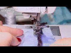 ▶ SINGER® All Purpose Clear Lock Presser Foot Tutorial - YouTube
