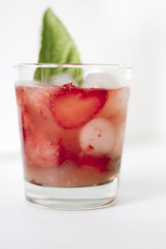 Strawberry Basil Cooler