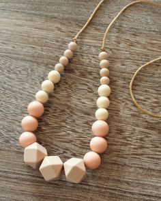 Food Grade Silicone Teething Necklace | BPA Free | Non Toxic | Breakaway Clasp | FDA approved beads