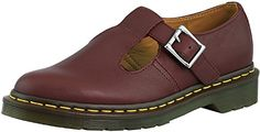 Best Flat Shoes | Dr Martens Womens Polley Mary Jane Flat Cherry Red 7 UK9 M US >>> Click on the image for additional details.(It is Amazon affiliate link) #newjersey