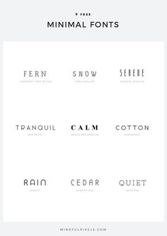 9 Free Minimal Fonts — Mindful Pixels Fonts and typography - TYPOgrafie - Inspiration Logo Design, Typography Inspiration, Minimal Font, Minimal Style, Minimal Graphic Design, Graphic Design Fonts, Minimal Quotes, Typography Design Layout, Graphic Design Projects