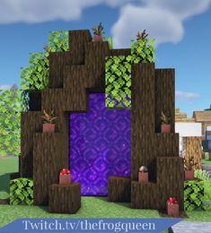 Minecraft Portal, Minecraft Tree, Minecraft Cottage, Cute Minecraft Houses, Minecraft City, Minecraft House Designs, Minecraft Decorations, Minecraft Blueprints, Minecraft Creations