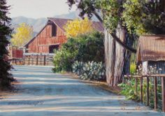 Up the Road 5x7, painting by artist George Lockwood