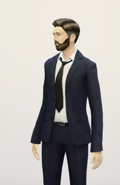 My Sims 4 Blog: Business Suit Retouch for Males by Rusty Nail