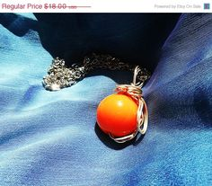 Orange Materia Materia Necklace Final Fantasy by KingsfieldInn