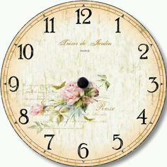 VK is the largest European social network with more than 100 million active users. Clock Art, Diy Clock, Clocks, Clock Face Printable, Clock Template, Shabby Chic Clock, Face Images, Decoupage Vintage, Gifts For Office