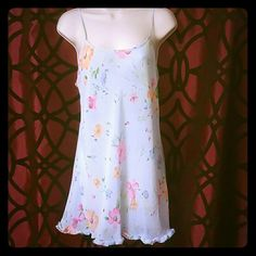 Victoria's Secret nightgown Cute Victoria's Secret baby blue with flowers nightgown 100% polyester mint condition Victoria's Secret Intimates & Sleepwear Chemises & Slips