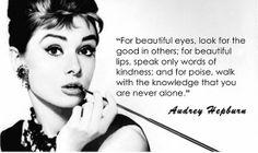 Wise words from Audrey Hepburn :-)