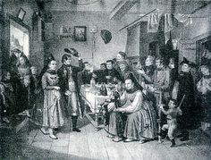 Frankische Bauernhochzeit, um 1850 #Unterfranken