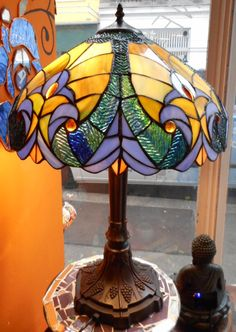 "Tischlampe ""Jugendstil"" Table Lamp, Lighting, Home Decor, Atelier, Art Nouveau, Handmade, Table Lamps, Decoration Home, Room Decor"