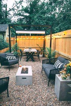 Small Patio Design, Backyard Patio Designs, Small Backyard Landscaping, Modern Backyard, Landscaping Ideas, Patio Ideas, Backyard Ideas, Garden Design, Garden Ideas