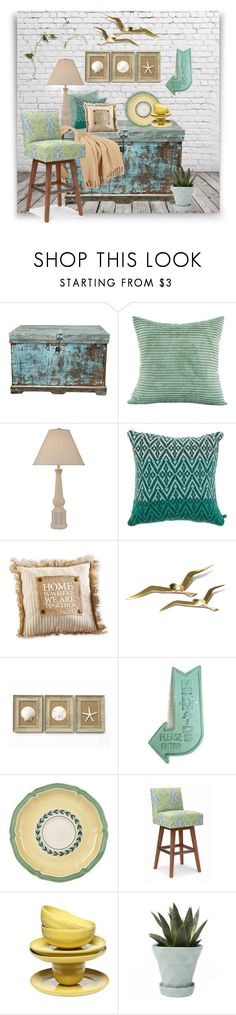 """""""Untitled #3876"""" by kellie-debrandt-mescher ❤ liked on Polyvore featuring interior, interiors, interior design, home, home decor, interior decorating, Katie Victoria, Mud Pie, Villeroy & Boch and Chive"""