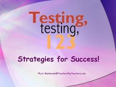 This presentation includes test taking strategies for the following topics: the night before the test, the morning of the test, multiple choice questions, reading passages, and math computation. Great to use with students before high stakes state testing. It really helps to set the tone for a more relaxed day (or days) of testing!