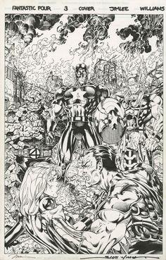 Fantastic Four #3 by Jim Lee