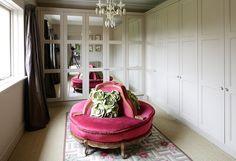 Pink confidante and pistachio flower pillows #closet #dressing_room