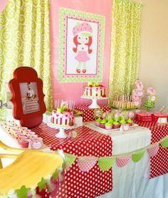 red green strawberry shortcake birthday party ideas