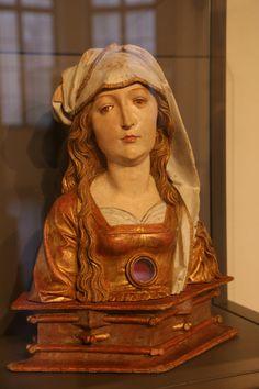 Tilman Riemenschneider (* um 1460 in Heiligenstadt; † 7. Juli 1531 in Würzburg) Reliquienbüste der Hl. Afra, aus dem St. Afra-Kloster in Würzburg, Bayerisches Nationalmuseum in München