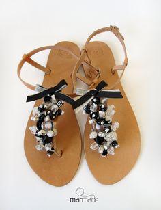 #silver #sandals #summer #black