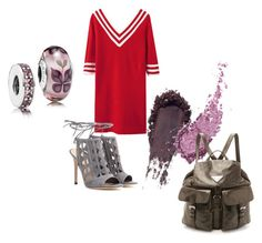 A fashion look from September 2015 featuring block top, grey high heel shoes and brown leather rucksack. Browse and shop related looks. Polyvore Fashion, Pandora, Clothing, Style, Outfit, Swag, Clothes, Outfit Posts, Stylus