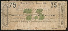 http://www.ebay.com/itm/drbobcoins-75-Obsolete-Note-Bland-County-Virginia-6-16-1862/191756360598?_trksid=p2045573.c100034.m2102