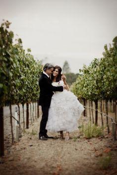 Wife and Husband: Vineyard Shot #weddings #napa #photography