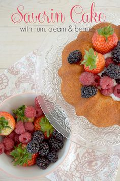 Savarin with Rum, Cream and Berries Cake Recipes, Dessert Recipes, Desserts, Rum Cream, Cupcake Cakes, Cupcakes, Savarin, Great British Bake Off, Delicious Dinner Recipes