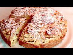 Πιάσε 2 μήλα και φτιάξε αυτήν την καταπληκτική πίτα! Πολυτελές πρωινό! Πολύ εύκολο! # 446 - YouTube Apple Desserts, Apple Recipes, Cake Recipes, Sweet Pie, Sweet Bread, No Bake Pies, Baked Donuts, Galette, Macaroons
