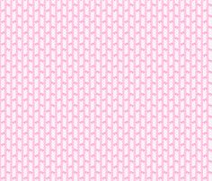 Lace Ribbon and Kawaii Bows in Pink fabric by kathrynrose on Spoonflower - custom fabric