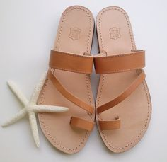 Greek leather sandals very elegant by GreekSandalShop on Etsy
