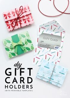 It's Easy To Make Your Own Diy Gift Card Holders With Double-Sided Cardstock And This Printable Template Your Gift Cards Never Looked So Good Christmas Gift Certificate Template, Gift Card Template, Printable Gift Cards, Card Templates, Envelope Templates, Gift Cards Money, Free Gift Cards, Diy Cards, Christmas Gift Card Holders
