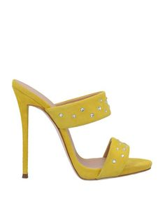 c7b892c269c6e Giuseppe Zanotti - Yellow Sandals - Lyst Yellow Sandals, Spike Heels, Soft  Leather,