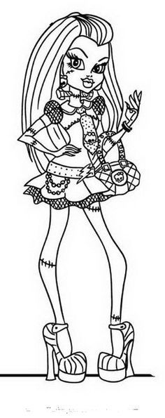 monster high pictures to color  Free Printable Monster High