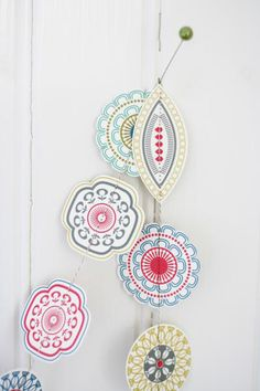 Colored Shapes Garland