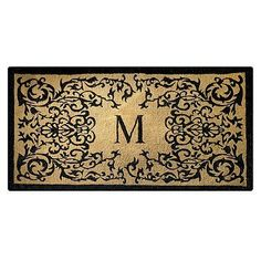 "Courtyard 36"" x 72"" Monogram Mat with Free Companion Mat - Frontgate by Frontgate. $159.00. Weather-, fade-, and mildew-resistant door mat. Skid-resistant backing locks fibers in place to minimize shedding. Entry mat quickly whisks dirt and debris away from shoes. Natural coir fibers are compressed into a dense pile for ultimate durability. Natural coir fibers are compressed into a dense pile for ultimate durability. Entry mat quickly whisks dirt and debris away from sho..."